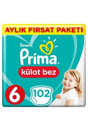 Prima Külot Bebek Bezi 6 Beden 102 Adet Aylık Fırsat Paketi