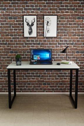 Ceramical Çalışma Masası, Bilgisayar Masası, Ofis Masası (60x120 Cm, Beyaz)