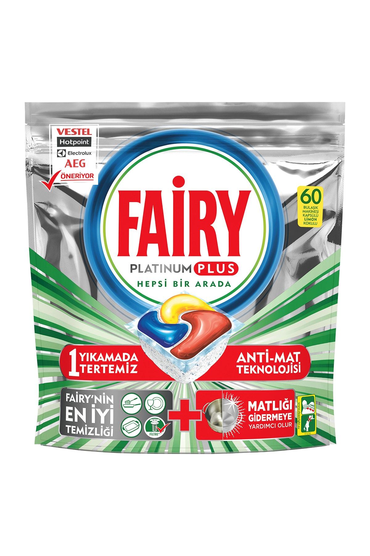 Fairy Platinum Plus Bulaşık Makinesi Deterjanı Tablet 60 Yıkama 2