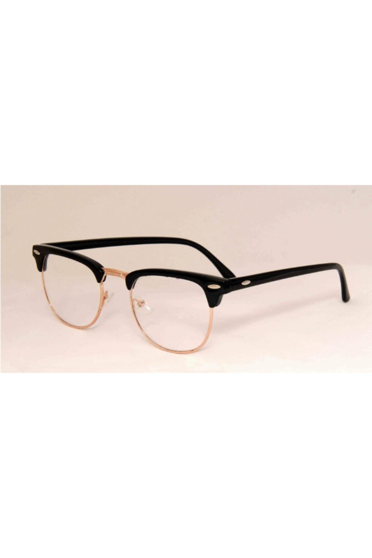 UBK Eyewear Clubmaster Numarasız Mavi Işık Korumalı Gözlük 1