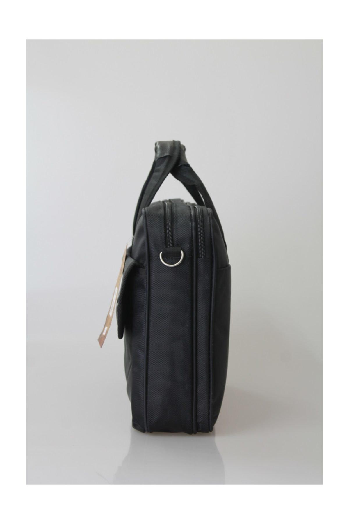 CAKARD Kumaş 15.6 Inç Laptop Bölmeli Evrak Çantası 0862 Siyah 2