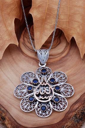 Sümer Telkari Maşallah Yazılı Telkari Işlemeli Gümüş Kolye