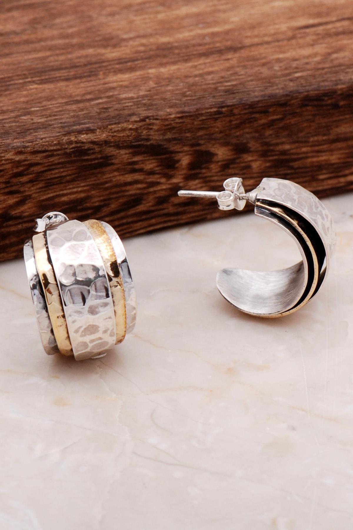 Sümer Telkari Dövme El Yapımı Tasarım Gümüş Küpe 4897 1