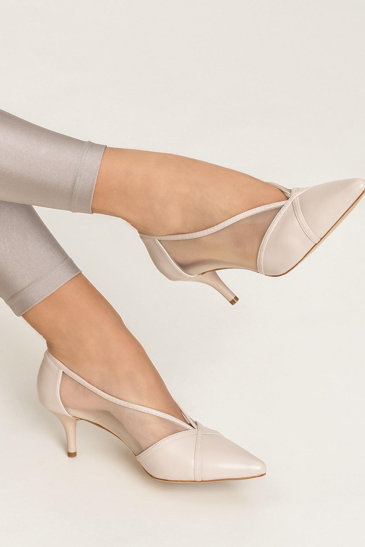 Elle Shoes MIKENNAA Bej Kadın Ayakkabı 1
