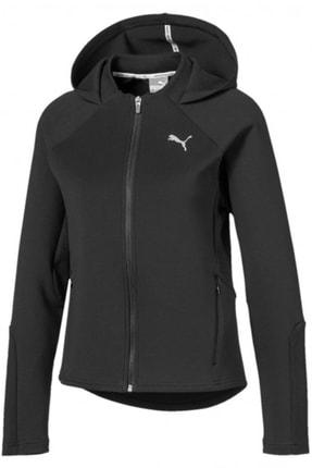 Puma EVOSTRIPE Kapüşonlu Fermuarlı Kadın siyah Ceket