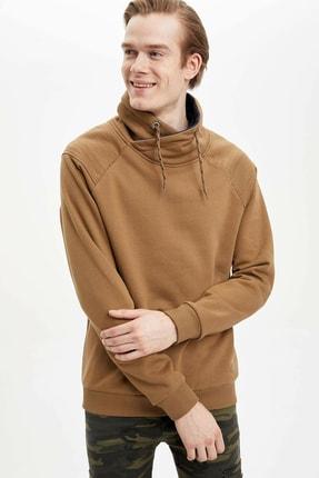 DeFacto Erkek Bej Slim Fit Sweatshirt N4760AZ.20SP.BG248