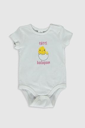 LC Waikiki Kız Bebek Ekru Eew Çıtçıtlı Body