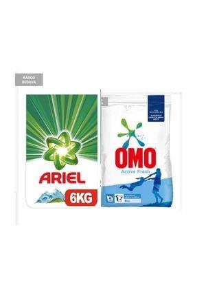 Ariel Toz Çamaşır Deterjanı Dag Esintisi 6 Kg + Omo Matik  Active Fresh 6 Kg