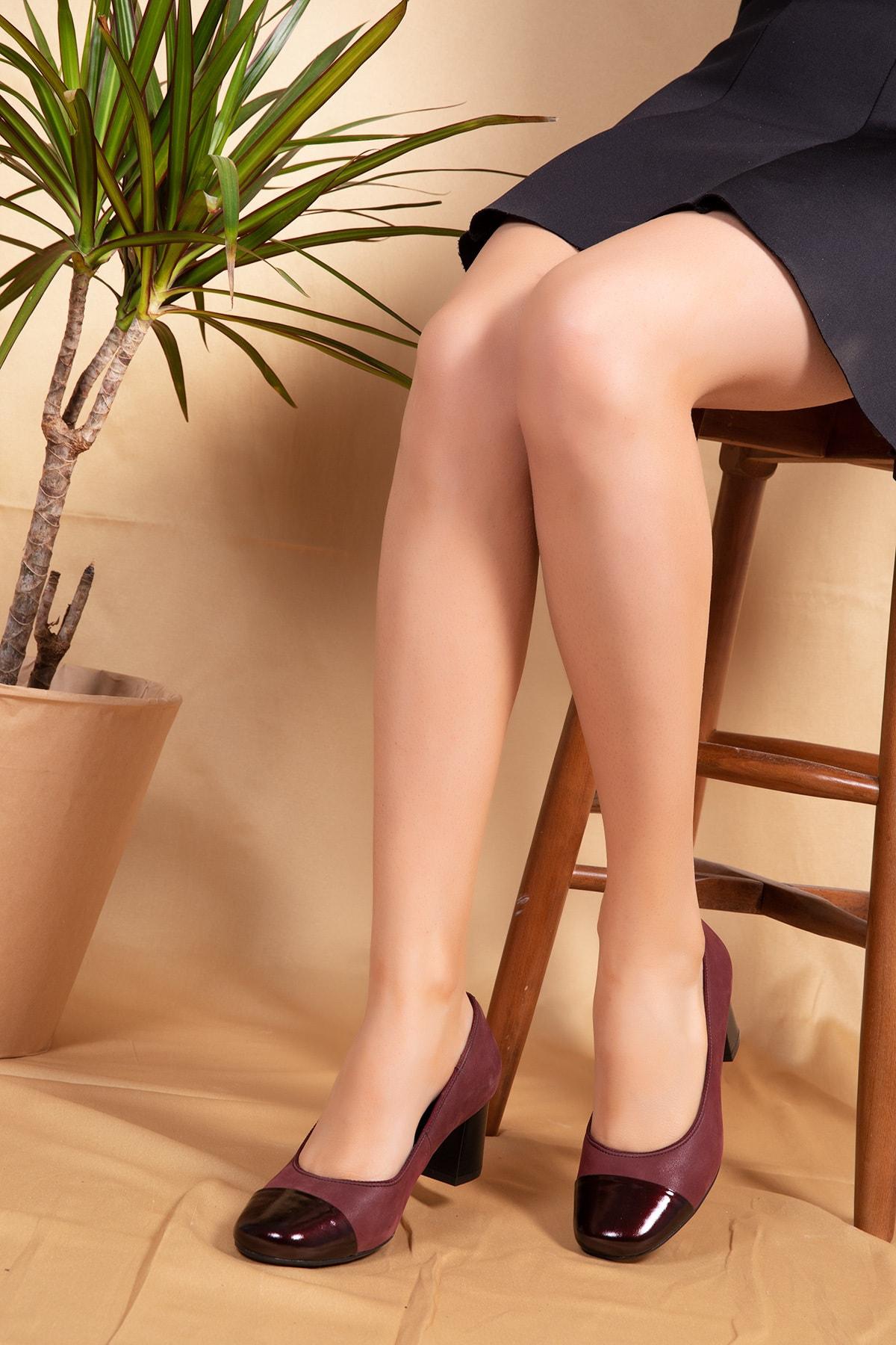 Gondol Ebru Comfort Hakiki Deri Klasik Topuklu Ayakkabı 2