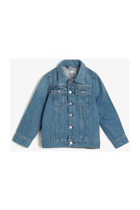 Koton Kids Erkek Çocuk Mavi Düğme Detaylı Jean Ceket 0YKB56207OD