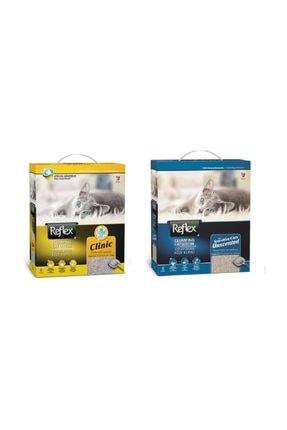 Reflex Sensitive Parfümsüz Hassas Ve Clinic  Kedi Kumu 6 Lt * 2 Adet