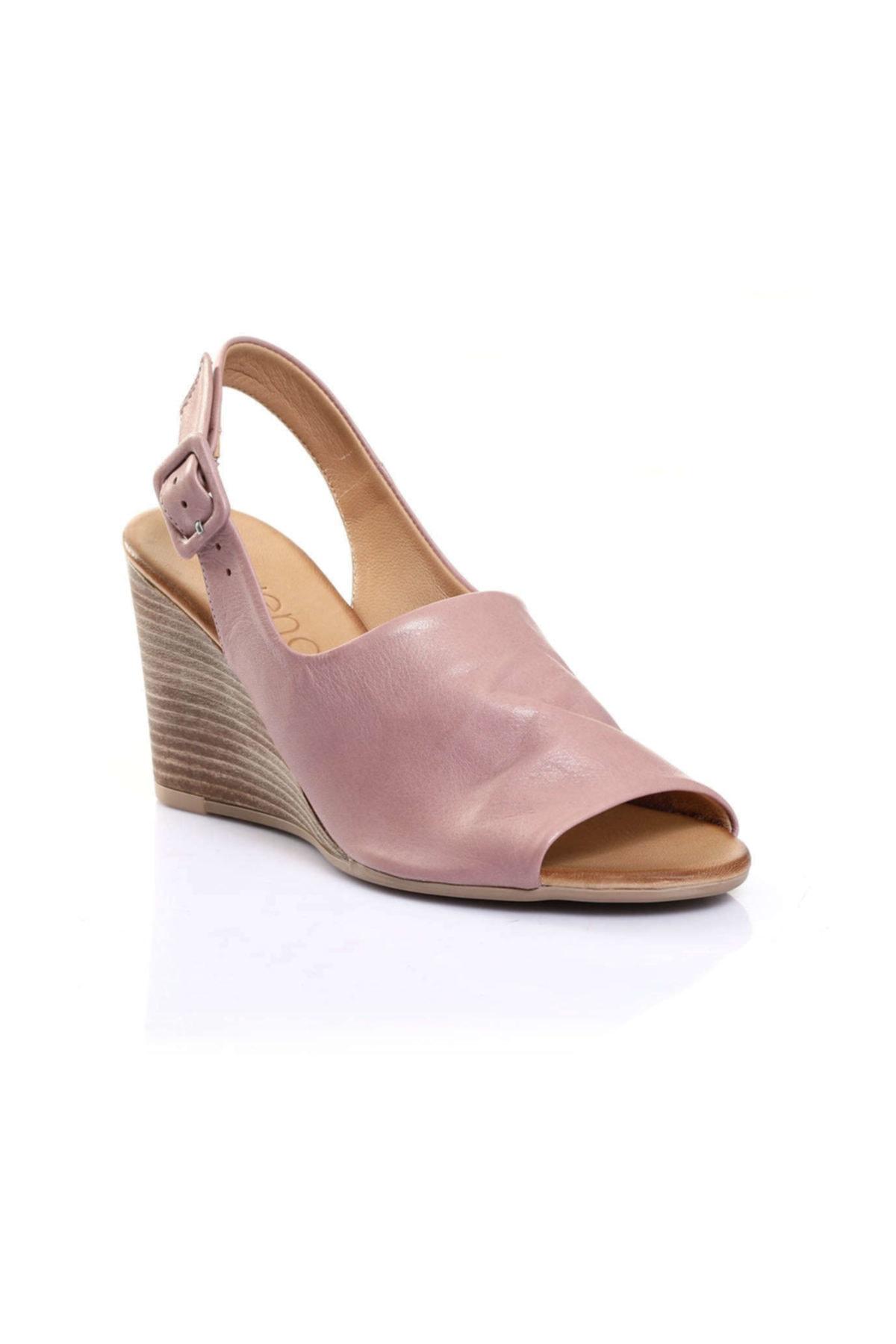 BUENO Shoes Bej Bayan Sandalet 9n1407 1