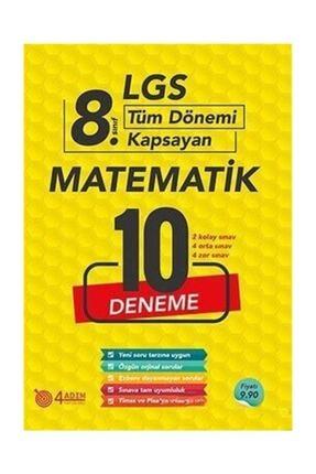 4 Adım Yayınları 8. Sınıf Lgs Matematik 10 Deneme
