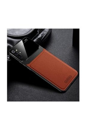 Dara Aksesuar Samsung Galaxy Note 10 Plus Kılıf Zebana Lens Deri Kılıf Kahverengi