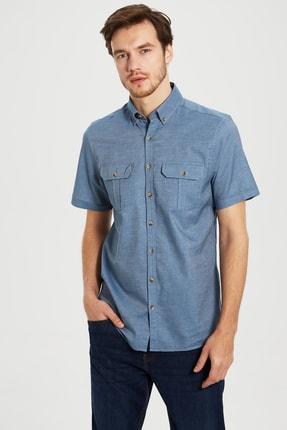 LC Waikiki Erkek İndigo Gömlek 0S4334Z8