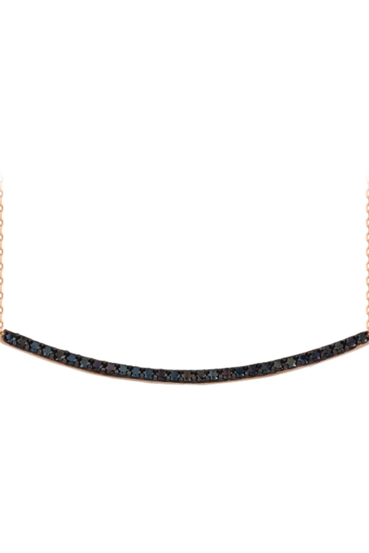 EJOYA 14 Ayar Altın Çubuk Taşlı Kolye 84370 1