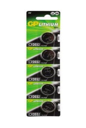 GP 5adet 3 Volt Cr2032 Lityum Düğme Para Pil(DL2032 BİOS-HESAP MAKİNASI LİTHIUM PİLİ)