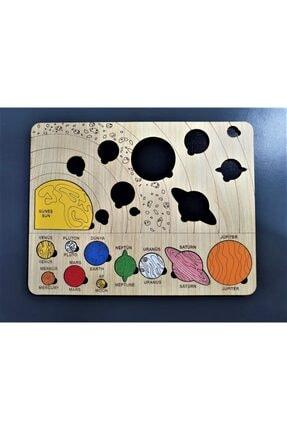 les doyen Renkli Ahşap Güneş Sistemi Bul Tak Puzzle Montessorie