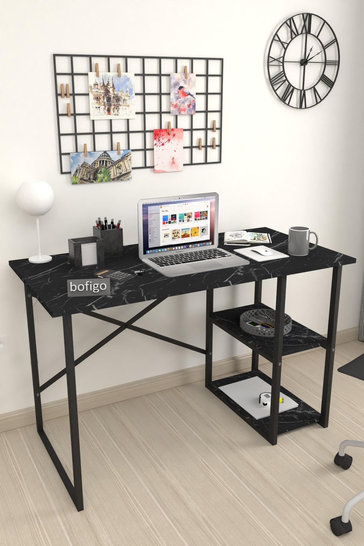 Bofigo 60x120 Cm 2 Raflı Çalışma Masası Bilgisayar Masası Ofis Ders Yemek Masası Bendir 1