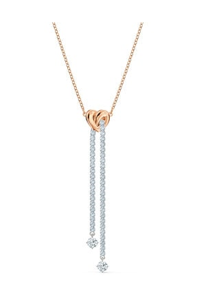 Swarovski Kolye Lifelong Hrt-necklace Cupchain Czwh-mix 5517952