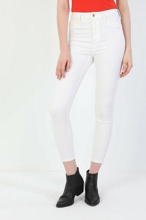 Colin's Super Slim Fit Yüksek Bel Skinny Leg Kadın Beyaz Pantolon