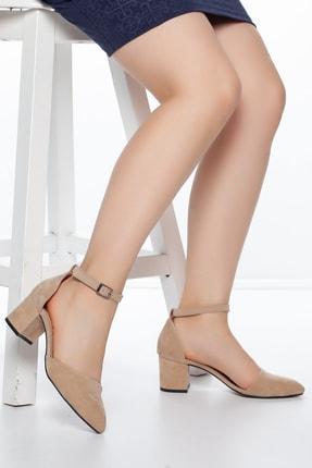 Daxtors Pudra-Süet Kadın Ayakkabı DXTRSKRNDYRK001