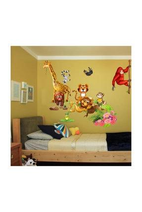 KT Decor Dev Boyutlu Özel Tasarım Sevimli Hayvanlar Çocuk Odası Duvar Sticker