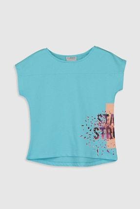 LC Waikiki Kız Çocuk Turkuaz Q39 T-Shirt