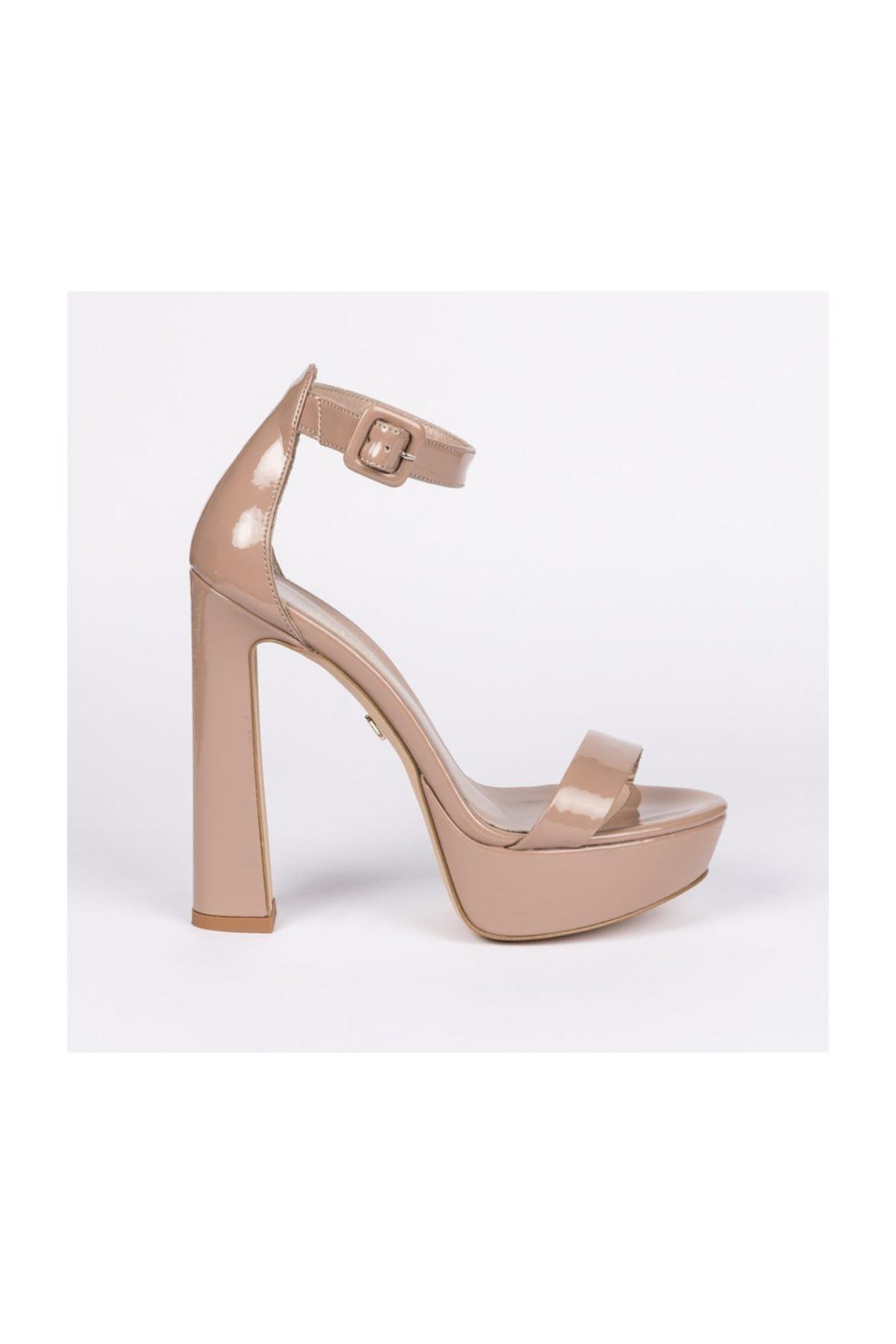 Jabotter Desire Karamel Rugan Platform Topuklu Ayakkabı 1