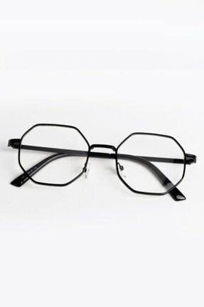 UBK Eyewear Sekizgen Mavi Işık Korumalı Engelleyici Gözlük
