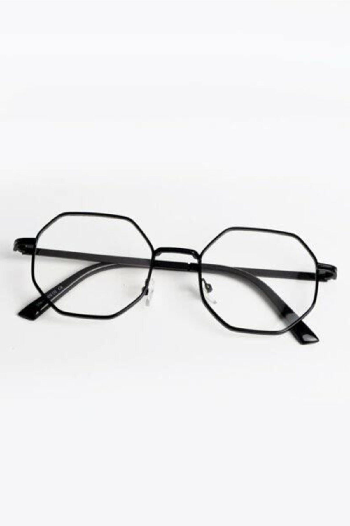 UBK Eyewear Sekizgen Mavi Işık Korumalı Engelleyici Gözlük 1