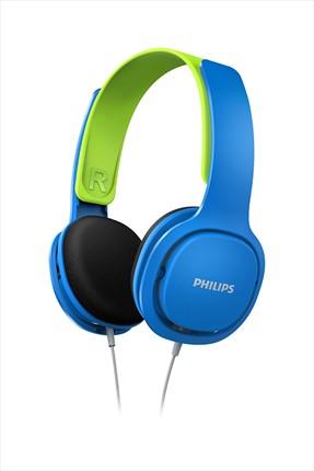 Philips SHK2000BL Kids Kulak Üstü Kulaklık - Mavi/Yeşil