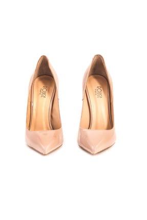 ROUGE Hakiki Deri  Kadın Ten Rugan Klasik Topuklu Ayakkabı 172RGK688 5025-01