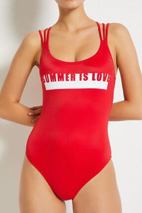 Koton Kadın Kırmızı Mayo 8YAK85086BM