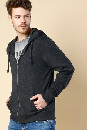 Colin's Regular Fit Hooded Erkek Antra Melanj Sweatshirt