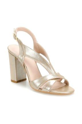 Miss F DS19065 Altın Kadın Topuklu Sandalet 100382335