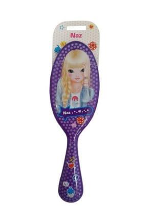 Top Model Saç Fırçası Mor Naz