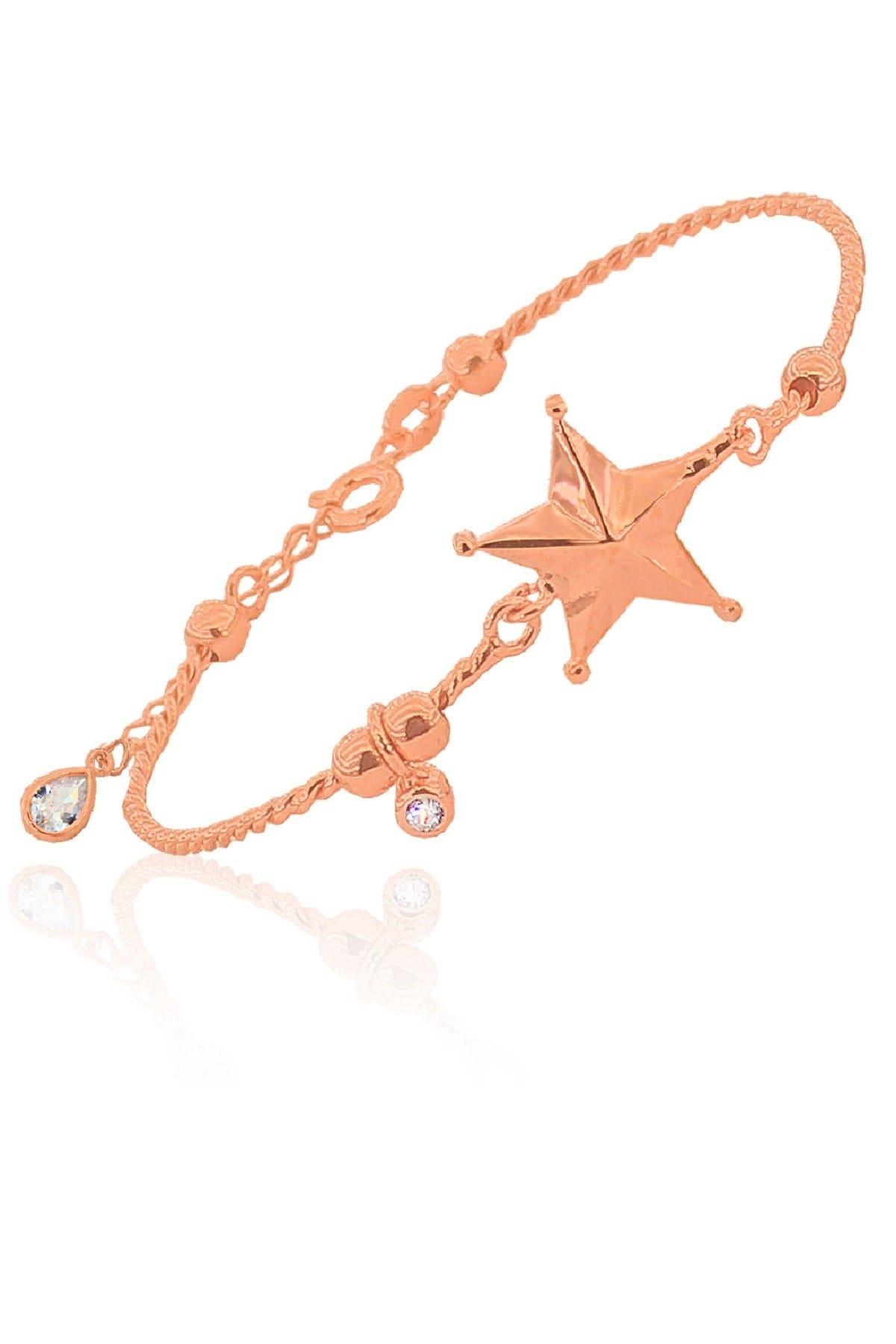 Söğütlü Silver Kadın Yıldız Bulgu İnce Bilezik & Bileklik SGTL3053 1