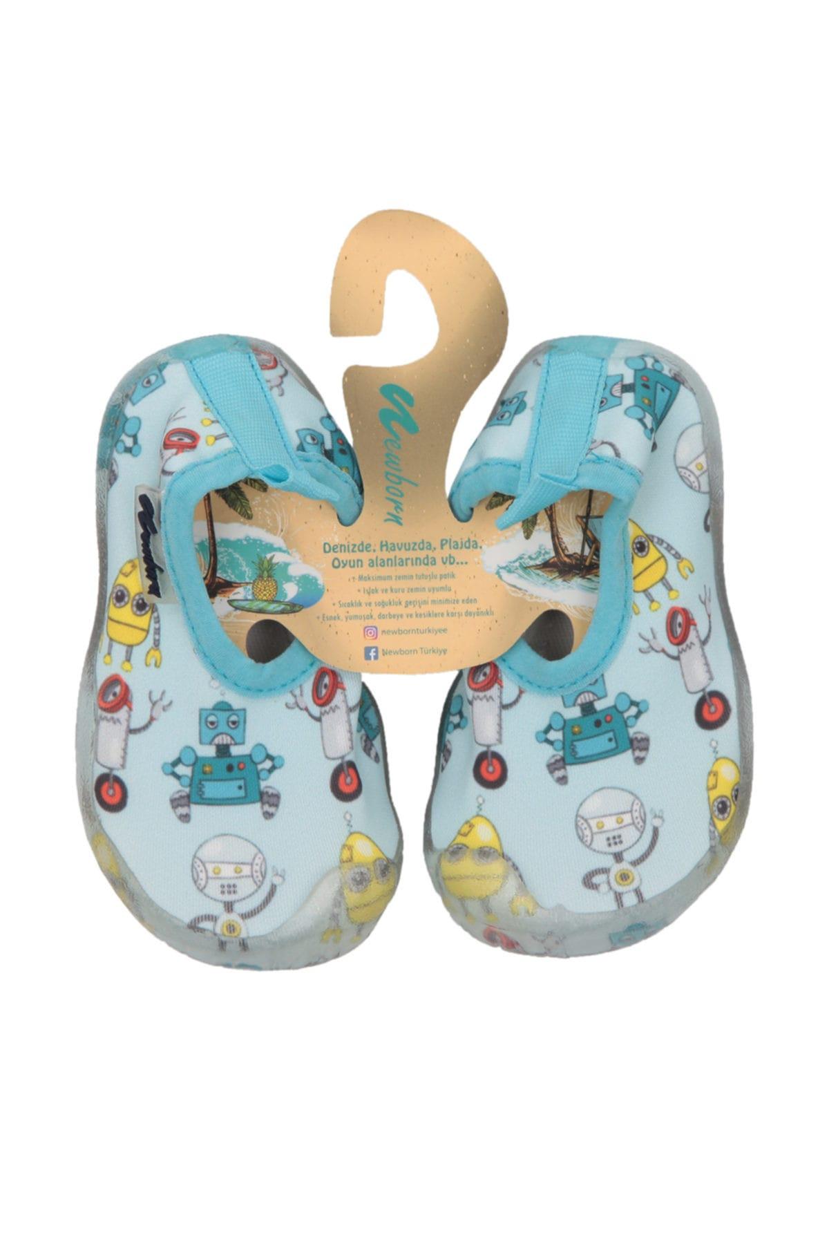 Newborn NAQ2010 AQUA ROBIX Açık Turkuaz Unisex Çocuk Terlik 100446179 1