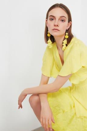 İpekyol Kadın Neon Sarı Neon  Bel Vurgulu Asimetrik Bluz IS1190006252BT1