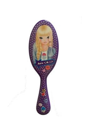 Top Model Saç Fırçası Mor Azra /