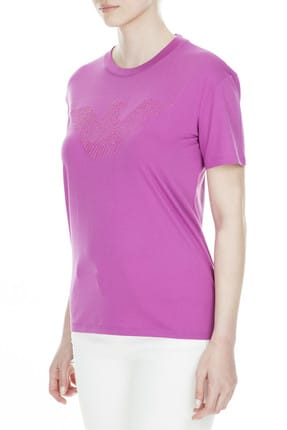 Emporio Armani Kadın Pembe T-Shirt 3G2T88 2JSYZ 0841