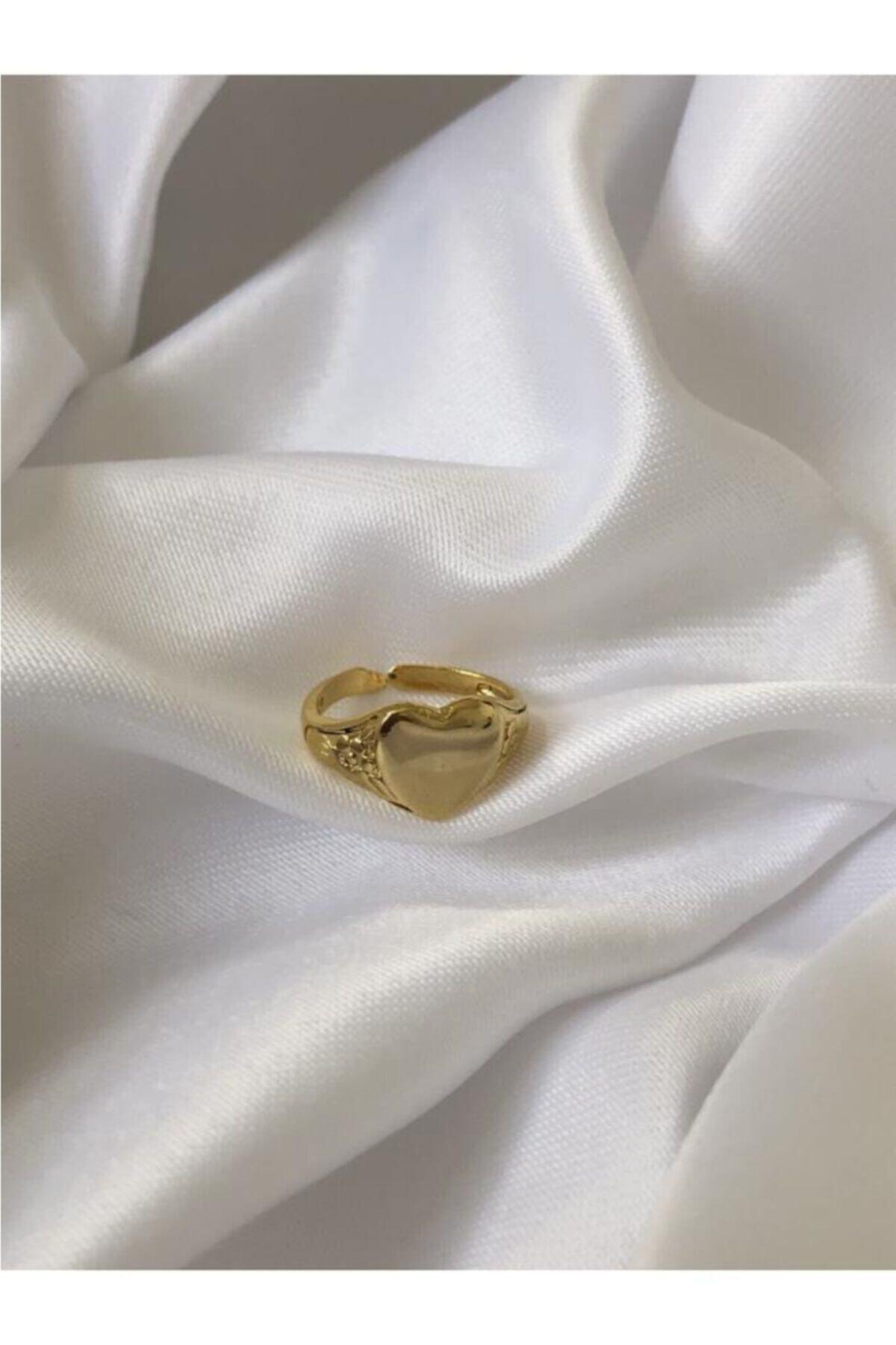 The Y Jewelry Kadın Altın Kaplama Kalp Yüzük 2