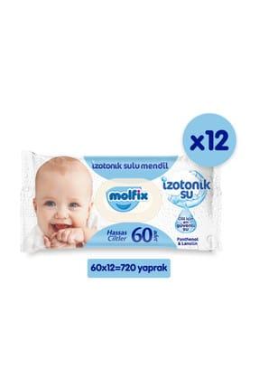 Molfix İzotonik Sulu Islak Mendil Hassas Ciltler 12'li Paket - 720 Yaprak