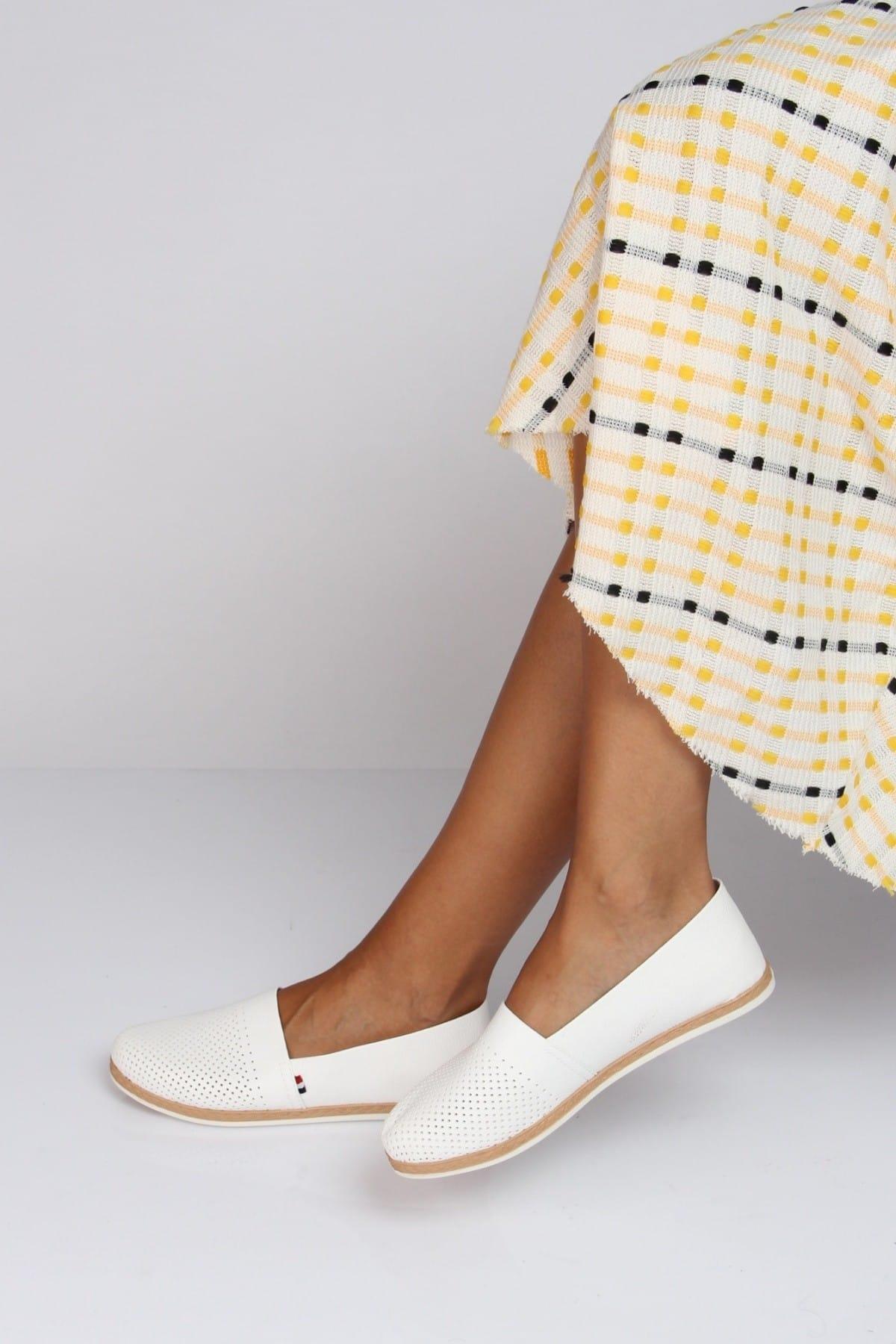 Shoes Time Beyaz Kadın Babet 19Y 151 2