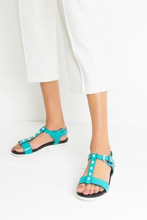 Derimod Mavi Kadın Sandalet
