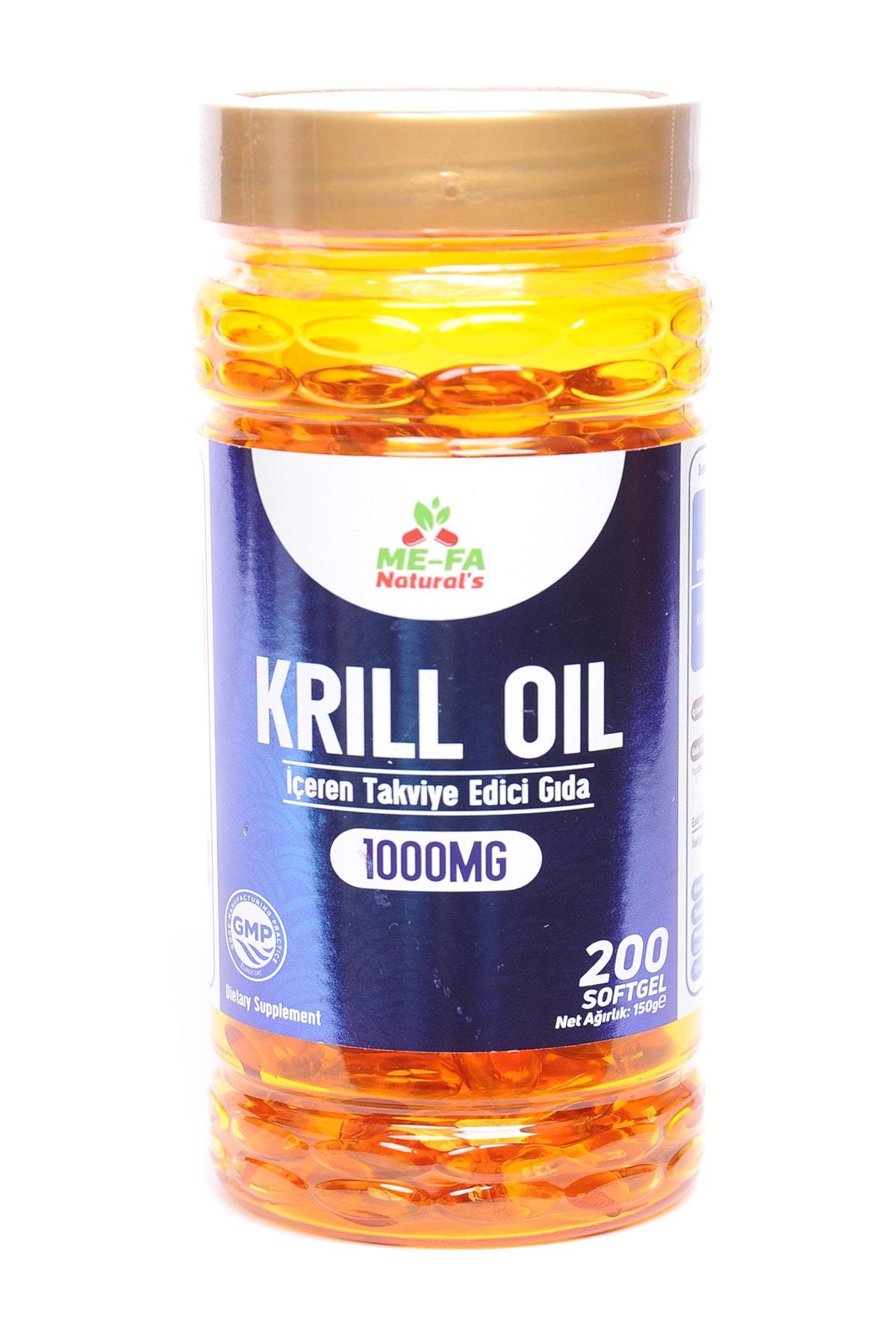 Mefa Naturals Krill Oil 1000 Mg 200 Softgel 1
