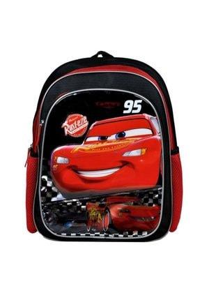 CARS Unisex  Çocuk  Beyaz  Disney Cars Şimşek Mcqueen Okul Çantası 96665