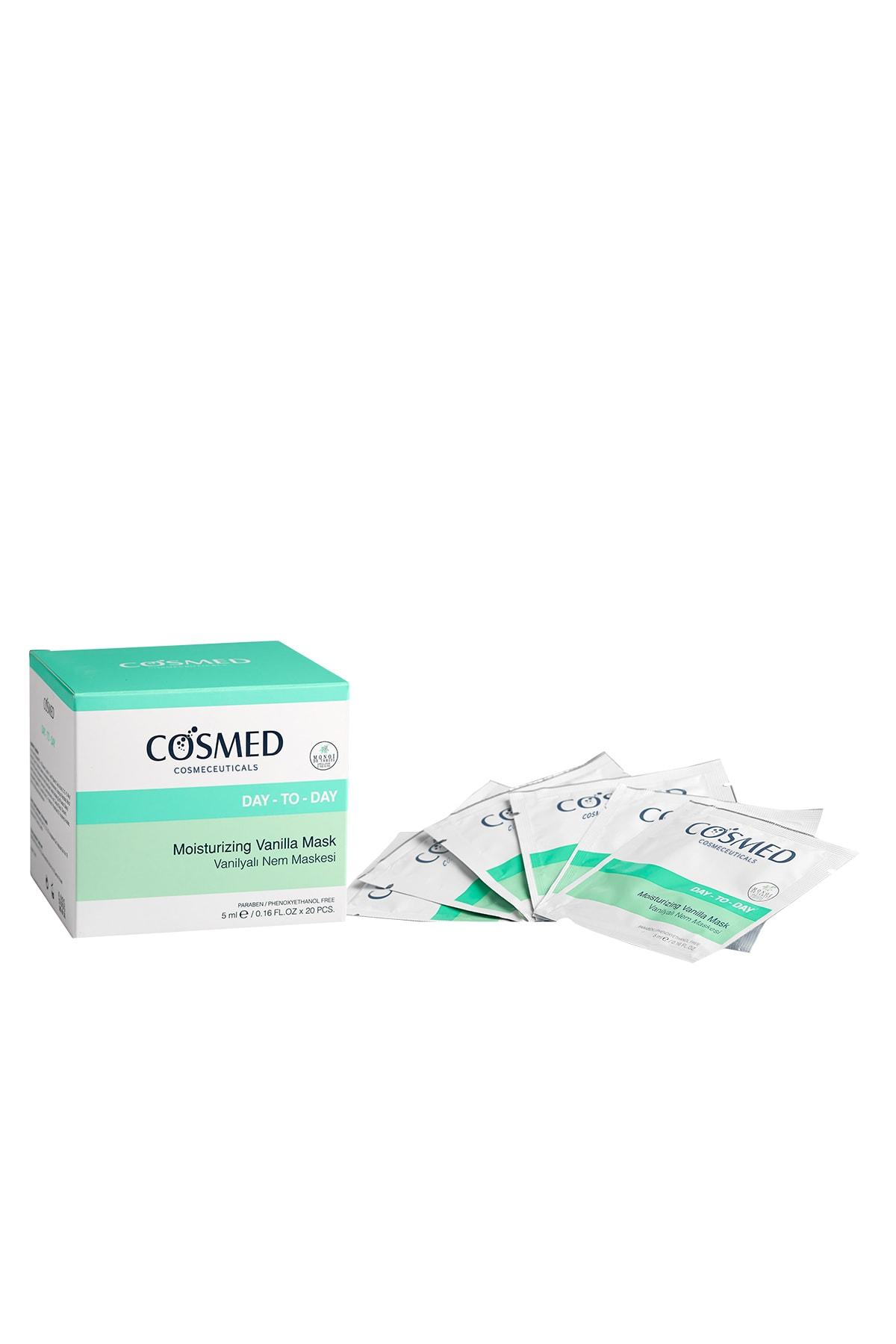 COSMED Nemlendirici Cilt Bakım Maskesi - Moısturızıng Vanılla Mask 5 ml /20 Adet 8699292991107 1