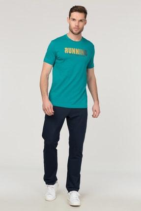 bilcee Mavi Pamuklu  Erkek T-Shirt FS-1681